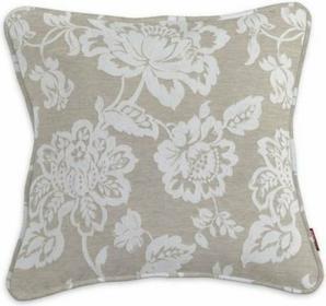 Dekoria Poszewka Gabi na poduszkę Rustica lniano-beżowe kwiaty