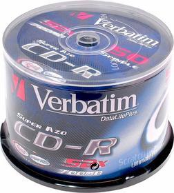 Verbatim Płyty CD-R 700MB 52x Crystal cake 50 szt. 43343