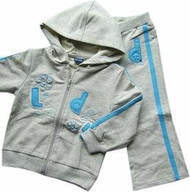 gt Bawełniany dres dziewczęcy ld - 74 cm 6 miesiec