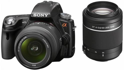 Sony Alpha 55 + 18-55 + 55-200 kit