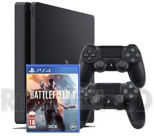 Sony PlayStation 4 Slim 1 TB Czarny + Battlefield 1 + Akcesoria