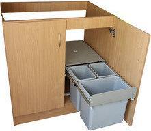 Wysuwany Kosz do segregacji odpadów A40/3/2 SEGAA4032