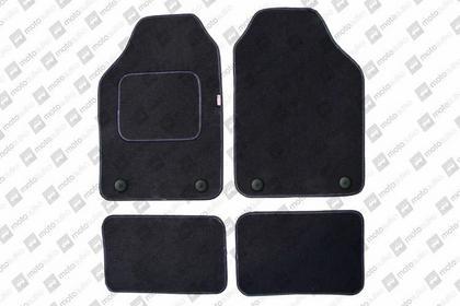 POK-TER Komplet dywaników welurowych miarowych czarne - Citroen Jumper (II) od 2
