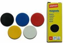 Staples Magnesy 30 mm mocne - 10 sztuk ŻÓŁTE magnesy10_ŻÓŁTE