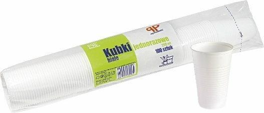 Sarantis 100szt Kubki jednorazowe białe 200ml
