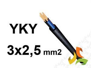 ELPAR/TFK/BITNER/DAMIR Kabel YKY 3x2,5 mm2 ziemny 0,6/1kV miedziany 13038009/KWA