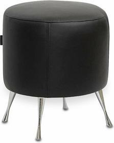 Happy Barok Pufa Natural Leather Black