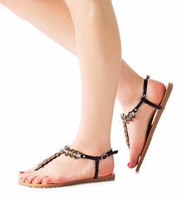 Czarne sandały Sancha czarny