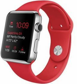 Apple Watch 42 mm Stal / Czerwony