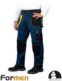 Leber & Hollman GRANATOWE spodnie ROBOCZE DO PASA LH-FMN-T (GBY) promocja!