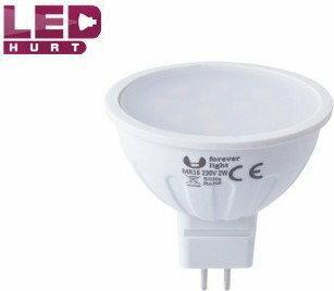 Forever Light Żarówka LED GU5,3 MR16 2W 230V 11SMD2835 biała ciepła