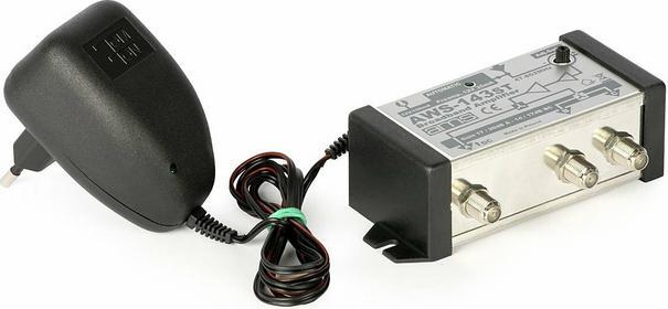 AMS Wzmacniacz antenowy wewnętrzny z zasilaczem AWS-143ST