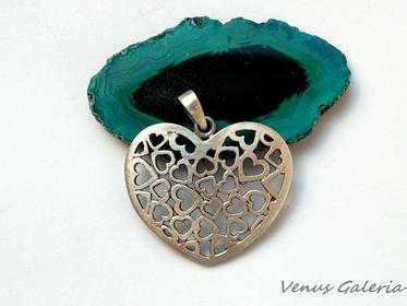 Ażurowe serce - wisiorek