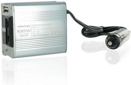 4World PRZETWORNICA SAMOCHODOWA DC 12V-AC 230V 100W Z USB (24G) 06574