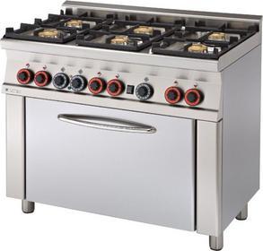 RM Gastro Kuchnia gazowa z piekarnikiem elektrycznym CF6 - 610 GEM