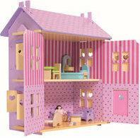 Eichhorn Fiołkowy domek dla lalek z wyposażeniem 2497
