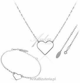 AnKa Biżuteria Biżuteria srebrna Komplet biżuterii damskiej .