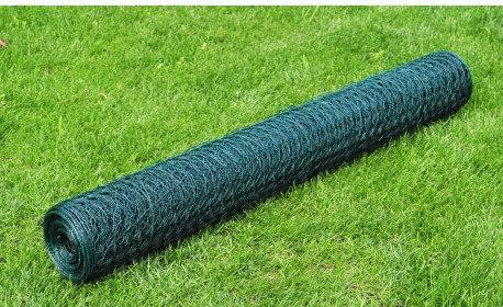 Siatka ogrodzeniowa 50 cm x 25 m, kryta PCV 1 mm