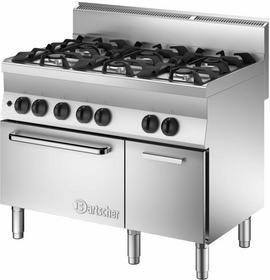 Bartscher 6-palnikowa Kuchnia gazowa z piekarnikiem gazowym i neutralną szafką B