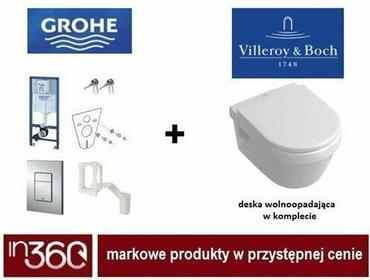 Grohe Villeroy Omnia architectura Zestaw Stelaż podtynkowy z Miska wisząca bezrantowa WC, z deską wolnoopadającą. 7w1 (38827000 +5684R001 +98M9C101) in.000Z039