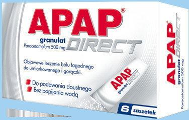 US Pharmacia Apap Direct 500mg 6 szt.
