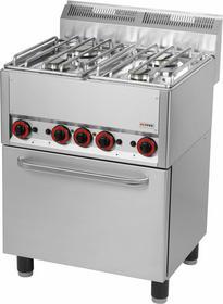 RedFox Kuchnia gazowa z elektrycznym piekarnikiem KSPT - 66 GE 00000539