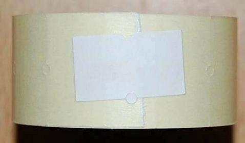 Rolka do metkownicy jednorzędowej - 2,1x1,2cm biała prosta 00424