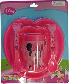 Disney Zestaw obiadowy dla dzieci Myszka Minnie, 5 elementów w komplecie 8714143