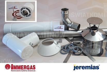 Jeremias zestaw 2 Kominowy 60/100 do kotłów turbo Immergas (komin do kotła) zest