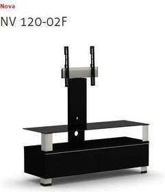 Elmob Stolik pod telewizor LCD LED Plazma do 50 - Nova 120-02F Black