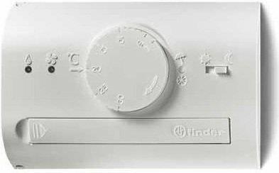 Finder Termostat elektroniczny RAL7016, nastawy pokrętłem, dzień/noc, lato/zima