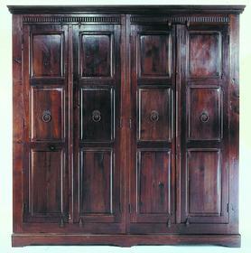 Kare Design Cabana Szafa 4-drzwiowa Drewno Topoli lakierowane brązowy kolor 211x204cm - 2147