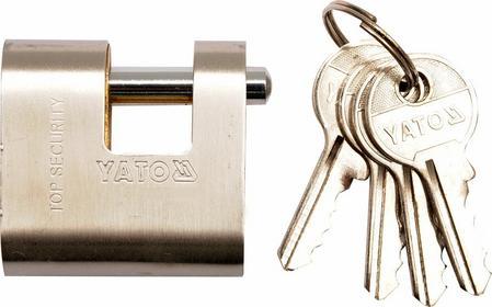 Yato Kłódka trzpieniowa 60 mm, mosiężno-stalowa. 4 klucze. YT-6982