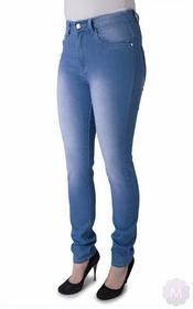 Hot Botton Elastyczne spodnie damskie jeansy rurki z wysokim stanem