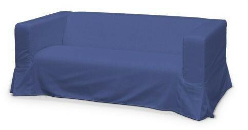 Dekoria Pokrowiec na sofę Klippan 2-osobową długi z kontrafałdami Living niebies