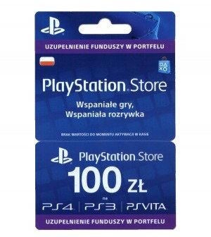 SONY Doładowanie PlayStation Store 100 zł ( polska dystrybucja ) PSSTORE100