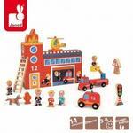 Janod Straż pożarna zestaw drewniany Story Box, J08522