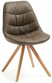 LaForma Krzesło Lars Brązowe (nogi drewniane)