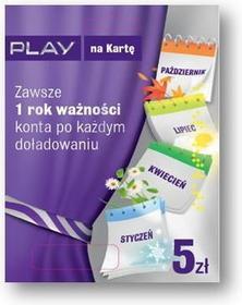 Play na Kartę Rok Ważności Konta 5 zł