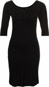TFNC LEILA Sukienka z dżersej czarny TF121C04Z-Q11