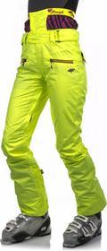 4F Spodnie narciarskie/snowboardowe damskie z pasem śniegowym SPDN050 - żółty