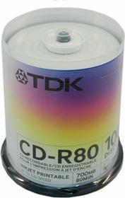 TDK Płyty CD-R 700MB 52x do nadruku (cake 100 szt.)