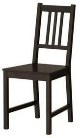 IKEA Drewniane krzesło do jadalni / kuchni 90x42x49 cm, ciemnobrązowe 002.110.88