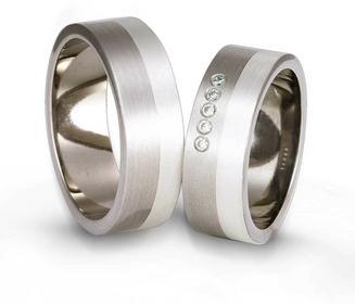 Obrączki z tytanu i srebra TS59