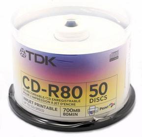 TDK CD-R 700MB 52x DO Tak 50SZT