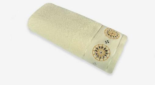 Arte Home Ręcznik bawełniany w koła 10072- 70x140
