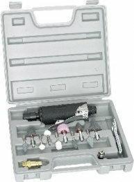 TOPEX Szlifierka prosta pneumatyczna 1/4 zestaw 74L211