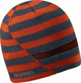 Salomon Czapka zimowa dwustronna Stripe Beanie - Moab Orange/Orange Glow/Dark Cl