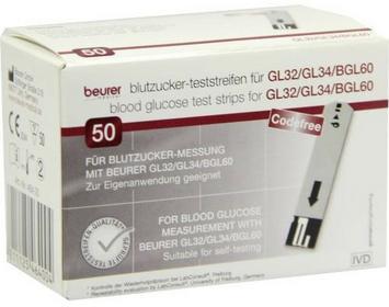 Beurer Gl32/gl34/bgl60 Blutzuckerteststreifen GmbH Gesundheit und Woh 07270240