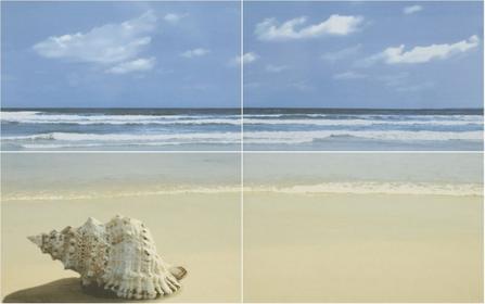 Paradyż Acapulco Dekor 4x25x40 Niebieski Plaża